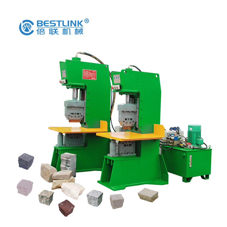 Bestlink Factory Hydraulic Multi Chisel Blade Stone Guillotine Splitter for Natural Stone Splitting with Conveyors