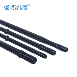 Taphole Long Drill Bit Extender Black Color With Thread Button Bit ISO 9001 Certificated
