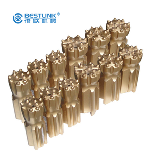 Thread Button Drill Bits T51 89mm 102mm For Long Hole Drilling Underground