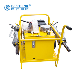 Stone Boulder and Concrete Blocks Splitting and Cracking Demolition Hydraulic Splitter