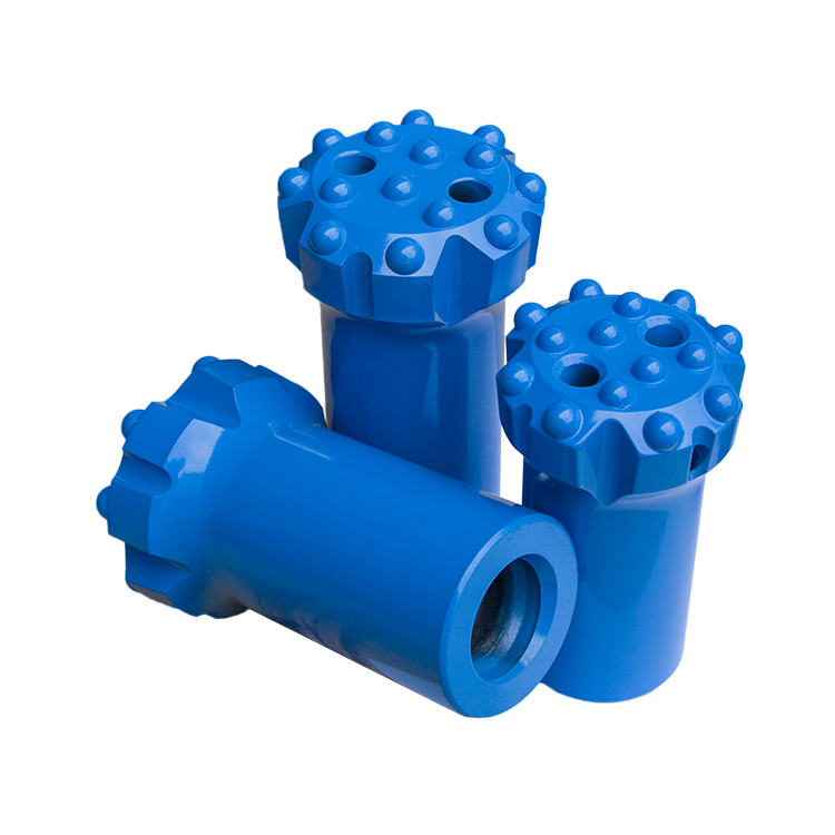 Retrac and Standard Thread Button Drill Bits for Deep Hole Drilling