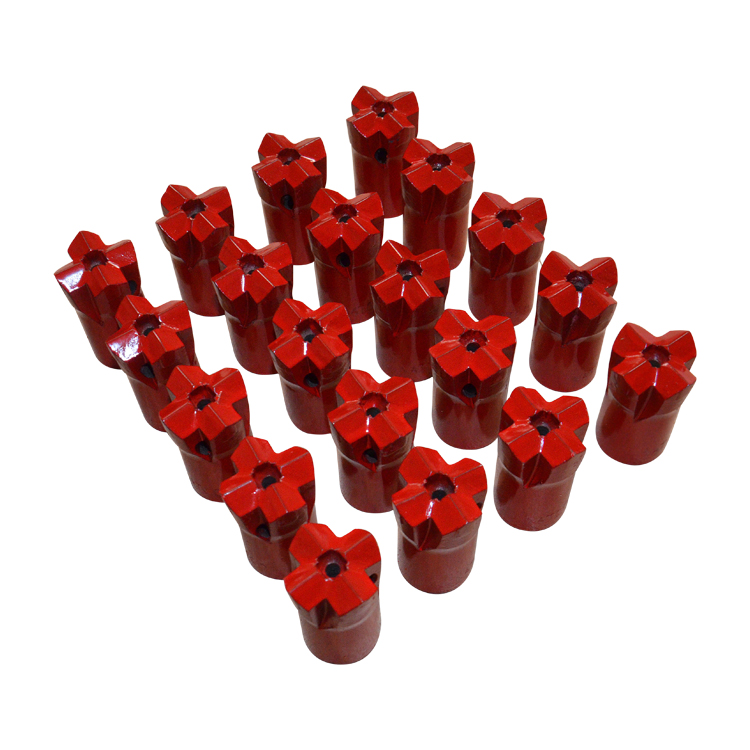 Tapered Cross Bits for Rock Drilling